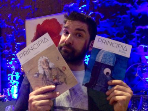 El cómico Nacho García, que amenizó la gala con su monólogo, también lee Principia. Créditos: A. Pérez Verde.