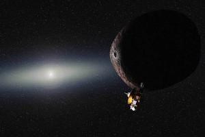 La sonda New Horizons sobrevolando 2014 MU69