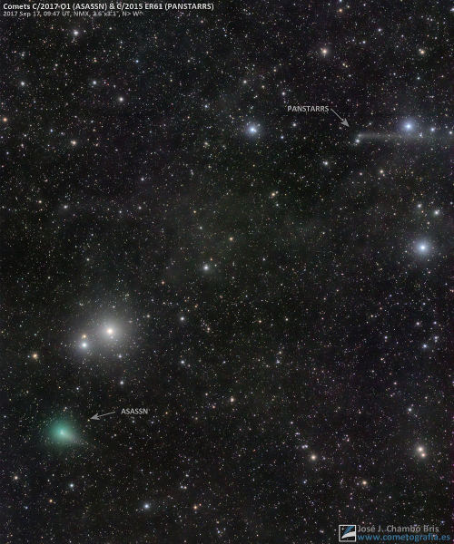 Cometas C/2017 O1 ASASSN y C/2015 ER61 PanSTARRS