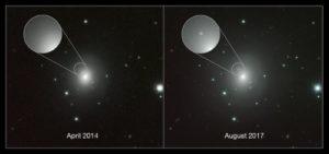 NGC 4993 y kilonova que produjeron el evento GW170817