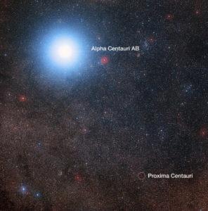 Alfa Centauri y Proxima Centauri