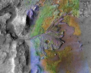 delta del cráter Jezero